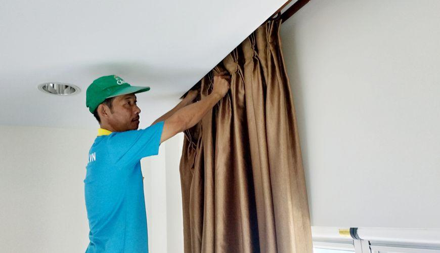 dịch vụ giặt màn